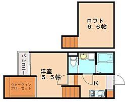 クレオ土井弐番館[1階]の間取り