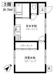 東京都目黒区中央町2丁目の賃貸マンションの間取り