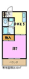 エリールカネヨシ[2階]の間取り