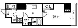 Osaka Metro谷町線 阿倍野駅 徒歩6分の賃貸マンション 7階1Kの間取り
