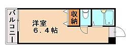 福岡県福岡市城南区梅林1丁目の賃貸アパートの間取り