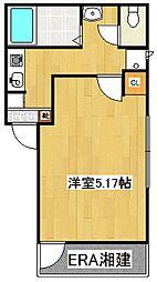 リーヴェルLeco神奈川新町[102号室]の間取り