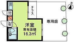 ライオンズマンション東高円寺[1階]の間取り