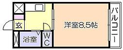 ニュー端山ビル[407号室]の間取り