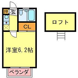 兵庫県尼崎市七松町2丁目の賃貸アパートの間取り