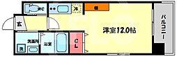 Kaunis都島 5階ワンルームの間取り