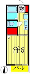 バケーロ[B206号室]の間取り