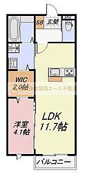 (仮)ラシーネ深井中町[2階]の間取り