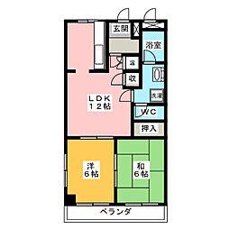 レジデンスイワタ[2階]の間取り