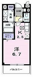 大阪府枚方市茄子作北町の賃貸マンションの間取り
