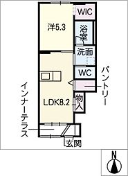 レジデンス桜[1階]の間取り
