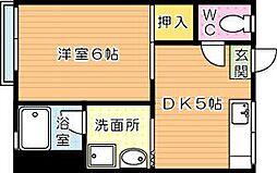 CASA KAORI(カーサカオリ)B棟[2階]の間取り