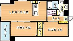 MDIフォレストガーデン三ケ森[7階]の間取り