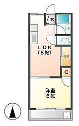 大野マンション[4階]の間取り
