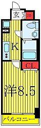 東京メトロ有楽町線 東池袋駅 徒歩4分の賃貸マンション 3階1Kの間取り