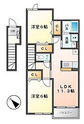 プリマ ヴェーラB[2階]の間取り
