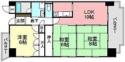 ノビリティ浜乃木[5階]の間取り