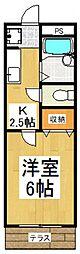 ピークハイムA[1階]の間取り