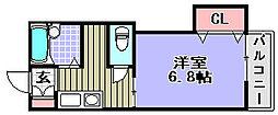 サンメイトB[B202号室]の間取り