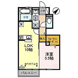 富山県高岡市城東2丁目の賃貸アパートの間取り