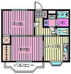 アバンサールプリモA・B[1階]の間取り