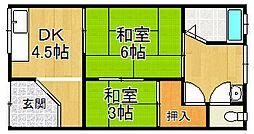 [テラスハウス] 大阪府堺市西区浜寺石津町東4丁 の賃貸【大阪府 / 堺市西区】の間取り