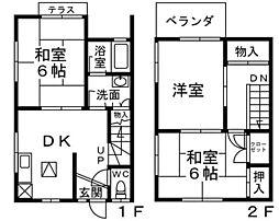 [タウンハウス] 広島県広島市南区仁保3丁目 の賃貸【/】の間取り