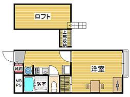 レオパレス賀茂[2階]の間取り