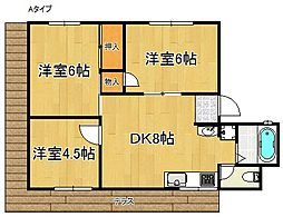 田中マンション(久保3丁目)[1階]の間取り