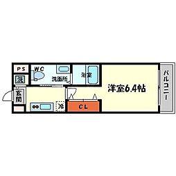 ファミーユ千里山西[3階]の間取り