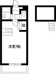 エレガンス小松IIB[210号室]の間取り