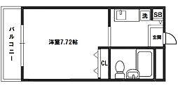 エクセレンス新大阪[5階]の間取り