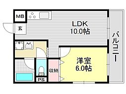 タナックマンション[3O1号室号室]の間取り