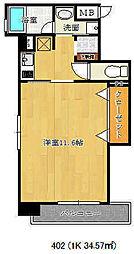 エスティロアール神戸西[402号室]の間取り