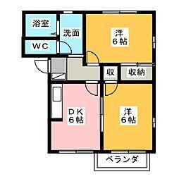 サニーコートカワイ[2階]の間取り