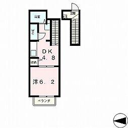 ロハスK[2階]の間取り