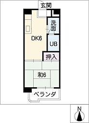 ファーストビル大樹[6階]の間取り