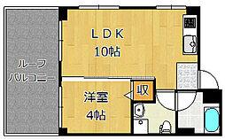 福岡県北九州市戸畑区千防3丁目の賃貸アパートの間取り
