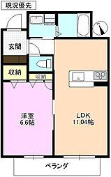 長野県上田市中央西 2丁目の賃貸マンションの間取り