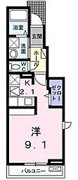 和歌山県和歌山市津秦の賃貸アパートの間取り