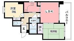 兵庫県尼崎市武庫川町3丁目の賃貸マンションの間取り