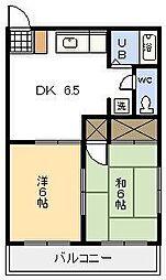 コーポ城丸[106号室]の間取り