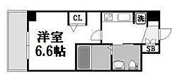 エステムコート新大阪IXグランブライト[508号室]の間取り