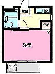 千葉県鎌ケ谷市鎌ケ谷7丁目の賃貸アパートの間取り