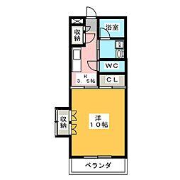 メゾンドMJ[1階]の間取り
