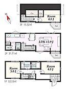 建物参考プラン:間取り/3LDK、延床面積/79.36m2、建物参考価格/1680万円(税込)