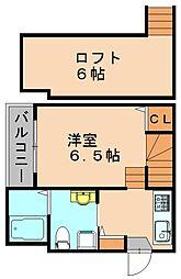 福岡県春日市桜ヶ丘6丁目の賃貸アパートの間取り