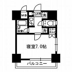 レジディア月島3[4階]の間取り