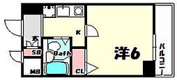 エスリード三宮第2[6階]の間取り