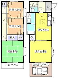 [一戸建] 東京都東村山市諏訪町1丁目 の賃貸【/】の間取り